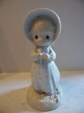 1990 Precious Moments Girl Daisy Petals He Loves Me / He Loves Me Not Figurine