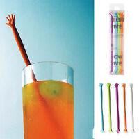 5 HELP ME Hand Drink Stirrers Bar smoothie Kitchen Cocktail Swizzle Sticks juice