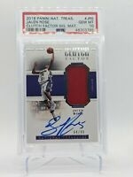 2018-19 Panini National Treasures Clutch Factor /99 Jalen Rose Auto PSA 10