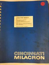Cincinnati Milacron Operating Manual 900Tc Control Pub. No 1-Tc-8201-1