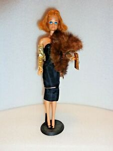 PRE-1967 BARBIE'S FRIEND MIDGE DOLL #7 WEARING #1609 BLACK MAGIC SHEATH DRESS