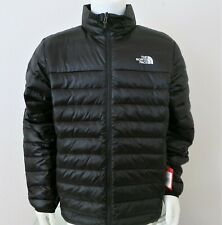 THE NORTH FACE Men Flare 550-Down Insulated Puffer Jacket Black-White sz XL, XXL