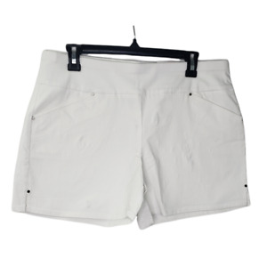 INC International Concepts Women's 10 Bright White Mid Rise Shorts NWT