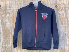 Chicago Bulls Boys Youth NBA Hoodie Jacket 7 Small Black Sweatshirt Coat