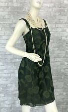 Giorgio Armani New Green Cotton Silk Linen Floral Dress 6 US 42 IT M Runway Auth