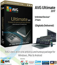 AVG ULTIMATE 2017 - 2 Years Unlimited Devices | AntiVirus / PC Tuneup (Download)