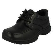 Scarpe neri per bambini dai 2 ai 16 anni camoscio da infilare