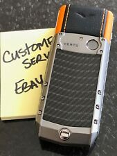 Genuine Vertu Ascent X Carbon Fiber Orange A must own Super RARE Brand NEW BOX