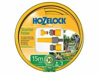 Hozelock Starter Hose Set 15m Garden Patio Watering Weatherproof Connector Kit