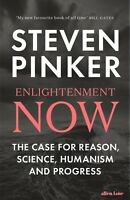 HB 1st - Enlightenment Now by Steven Pinker (2018), NEW, Paperback edition
