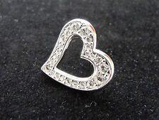 Swarovski Heart Tack Pin, New in Pouch