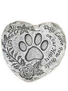 PET- DOG Heart Memorial Stone Garden Plaque