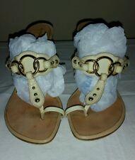 Giuseppe zanotti patent ivory heels sz 38.5