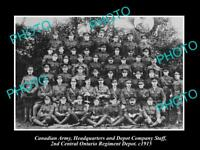 OLD LARGE HISTORIC PHOTO OF CANADIAN ARMY, THE ONTARIO DEPOT REGIMENT c1915 WWI