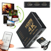 For HDTV 3D 1080p 5 Port 4K HDMI Switcher Selector Splitter Hub with iR Remote