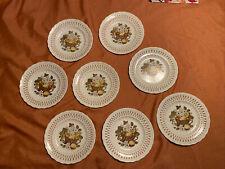 "Eight (8) Metlox Poppytrail Vernon Ware Fruit Basket Salad Plates 7.5"" You Need"