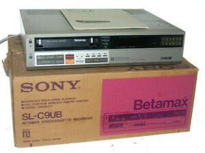 Sony SL-C9UB BETAMAX VIDEOCASSETTE RECORDER. BOXED - SPARES / REPAIR