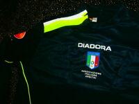 Diadora ITALY REFEREE SOCCER CALCIO shirt jersey OLD SKOOL ITALIA FOOTBALL 2XL