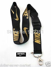 NIKE Gold Lanyard ID Holder Keychain cell phone Fitness - Runners - Sport