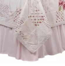 Simply Shabby Chic Pink Twin Ruffled Bedskirt Cottage Dust Ruffle New