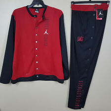 NIKE JORDAN XI RETRO 11 WARM UP SUIT JACKET+ PANTS BLACK RED RARE NEW (SIZE XL)