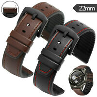 22mm Leather Silicone Replacement Band Strap Bracelet for Huami Amazfit GTR 47mm