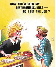 "Rude Comic Series Bamforth Postcard- ""Employment Bureau"" - Sex Vintage #6 Funny."