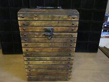 Antique 2 Bottle Wooden Liquor Case-Nice Details