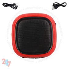Nuevo Inalámbrico Bluetooth Manos Libres TF Mini Altavoz Rojo Para Smartphone Tablets MP3