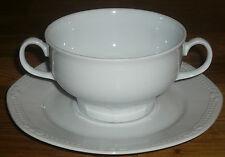 1 Suppentasse mit Untertasse    Mitterteich  Form 140   Weiss