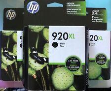 HP 920 XL Black Ink Cartridge 3 Pack (exp 2020)