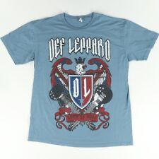 New ListingAlstyle Def Leppard Rock of Ages Tour 2015 Solid T-Shirt Blue Men's Xl