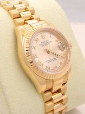 ROLEX NEW STYLE LADIES PRESIDENT 18K YELLOW GOLD 179178