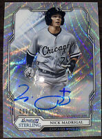 2019 Bowman Sterling Nick Madrigal Silver Wave Prospect Auto #67/125 White Sox!