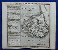 Original antique county map BISHOPRICK OF DURHAM, Badeslade & Toms, 1742