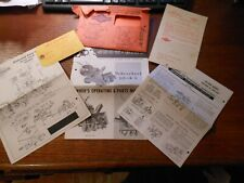 SNOW BIRD SNOWTHROWER  OWNERS MANUAL PACKAGE  by  George Tractor Division.