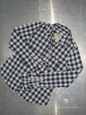 Hollister California womens cotton long sleeve check shirt size S