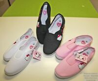 Chaussure Plate Ballerine Basket en Toile Uni Hello Kitty Femme Fille Prix Cool