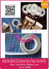1 CM Secure Double Sided Tape to Skin Weft Tape Hair Extensions Hairpiece Toupee