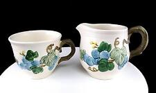 "METLOX POPPYTRAIL 2 PC SCULPTURED GRAPE 3"" CUP AND 3 5/8"" CREAMER 1963-1986"
