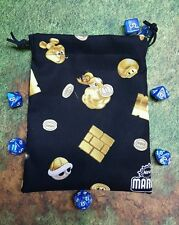 Nintendo Super Mario Brothers 2 Power Ups dice bag, card bag, makeup bag