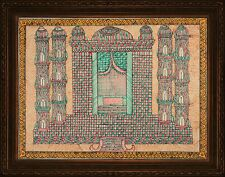 Madhubani Folk Art Wall Painting Colorful Tajmahal ancient mughal size 30x22 in.