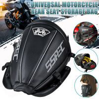 Waterproof Motorcycle Tail Bag Extended Rear Seat Hand Pack Luggage Saddlebags