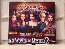 women of mystery --- 4-pack of hidden object adventure computer games --- new
