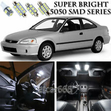 6pcs Xenon White LED Interior Lights Bulb Package Kit For Honda Civic 1996-2000