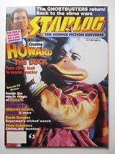 Starlog #111 1986 Rare Howard the Duck Ghostbusters Aliens Indiana Jone (M928)