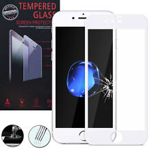 Film Verre Trempe Protecteur Protection BLANC pour Apple iPhone 7 4.7""
