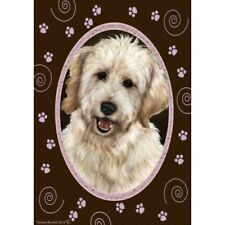 Paws House Flag - White Goldendoodle 17271