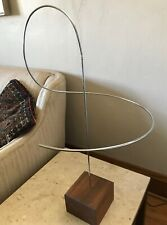 Vintage Mid Century Modern Kinetic Moving Chrome/Walnut Sculpture