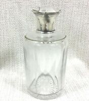 Antico Christofle Toletta Bottiglia Francese Art Déco Silver Plate Vetro Crystal